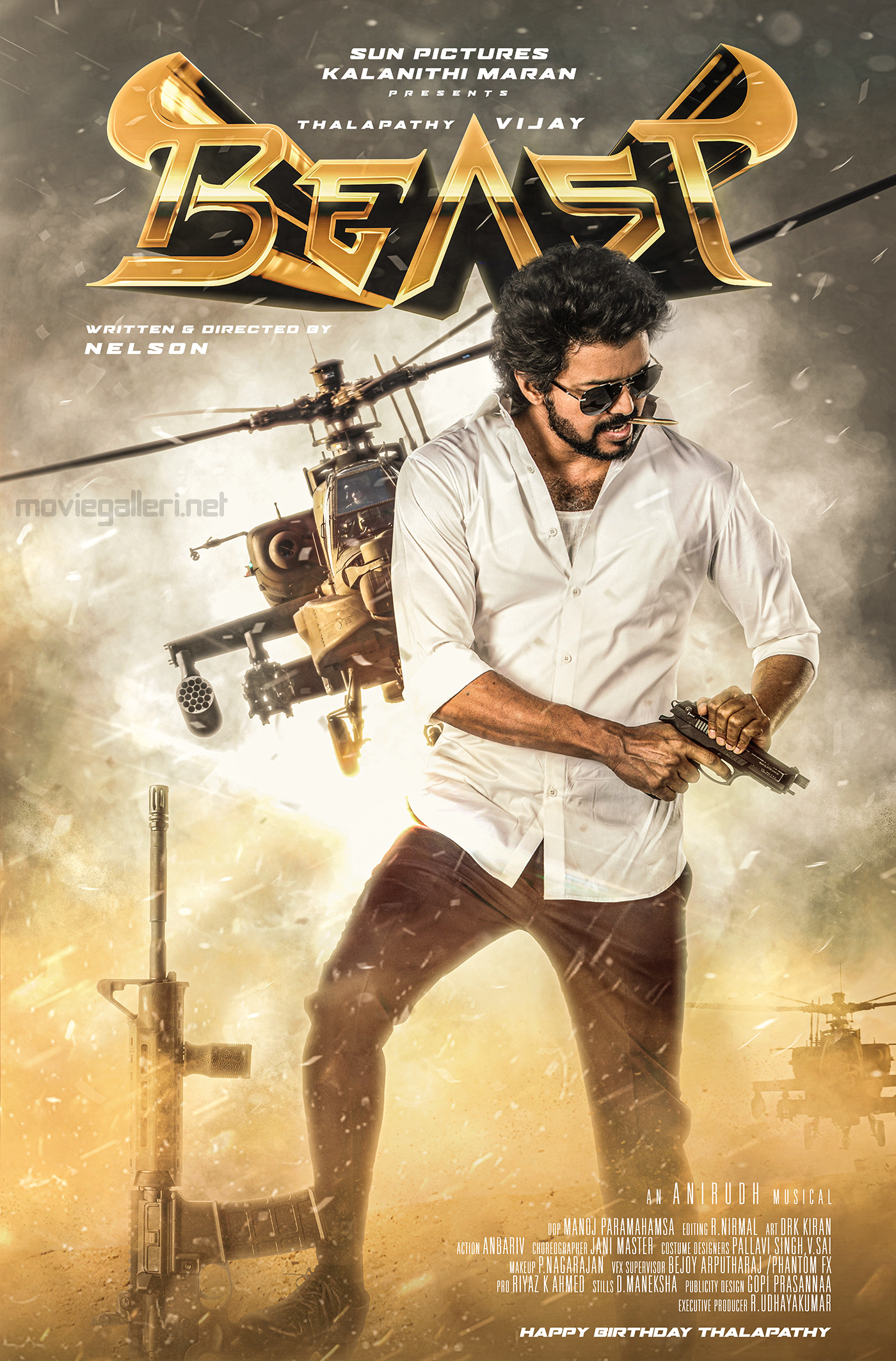 Thalapathy 65 Vijay Birthday Wishes BEAST Movie Second Look Poster HD