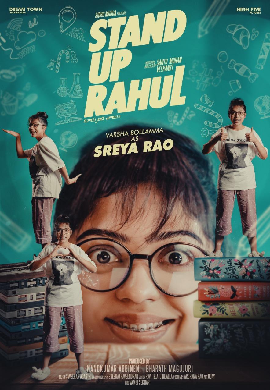 Actress Varsha Bollamma's First Look As Sreya Rao In Stand Up Rahul Movie