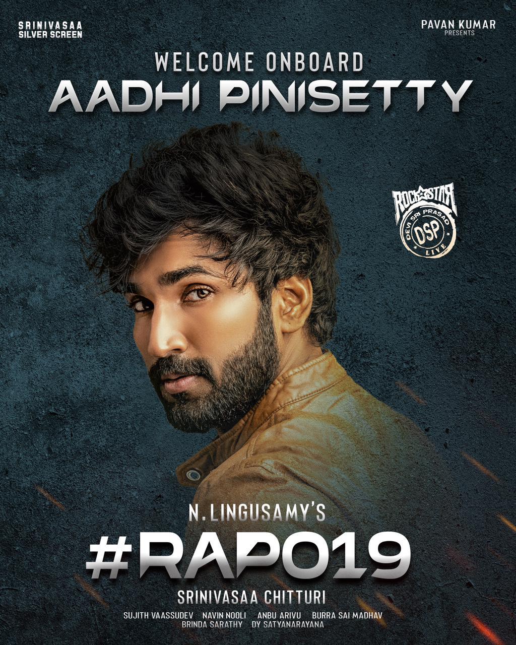 Actor Aadhi Pinisetty to lock horns with Ram Pothineni in RAPO19