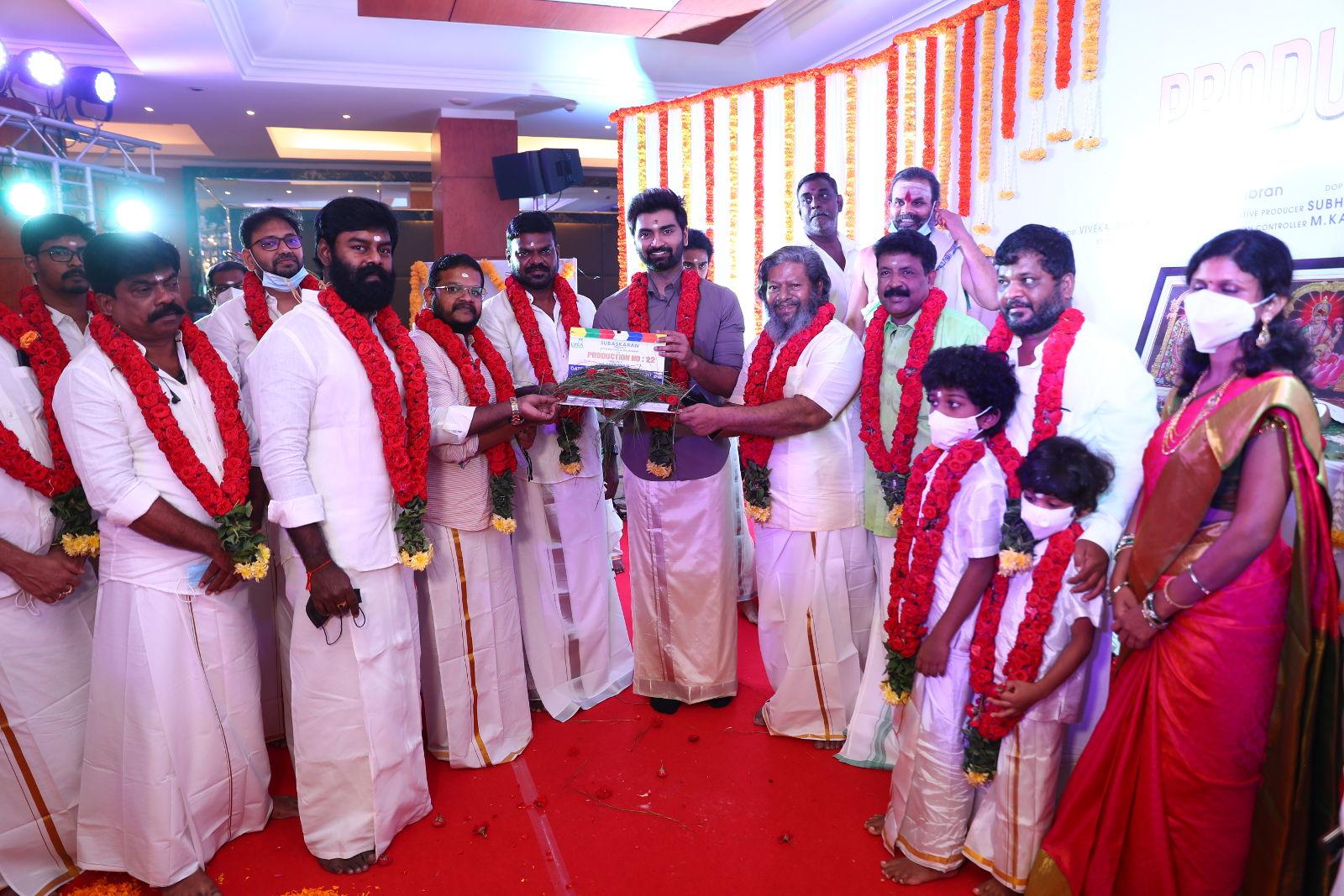 Actor Atharvaa Murali Rajkiran Director Sarkunam Film launched