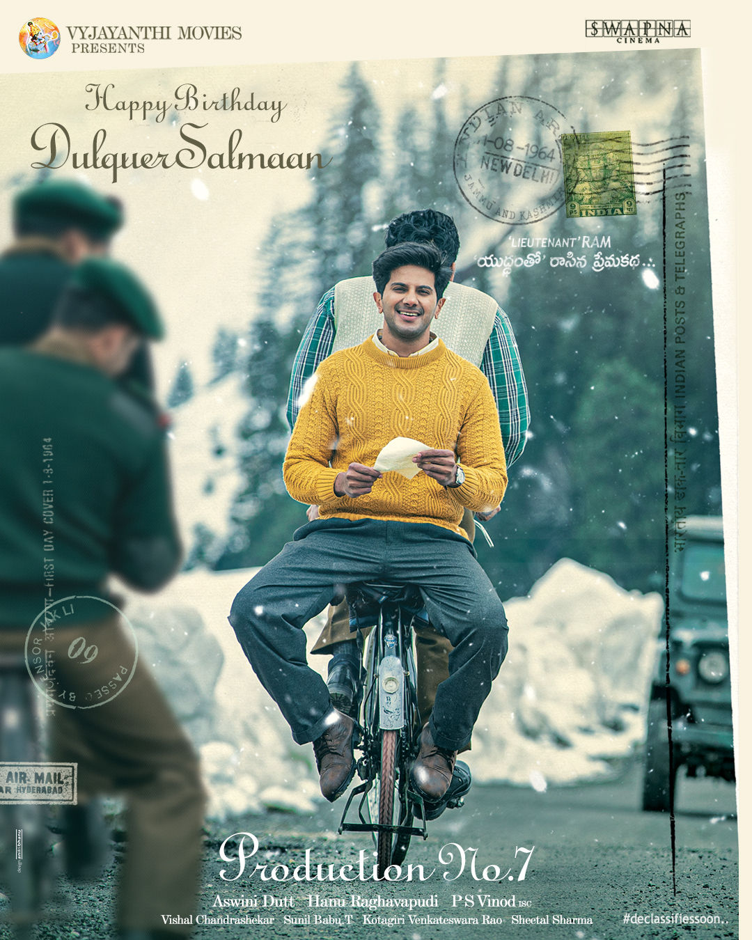 Dulquer Salman Birthday Glimpse Of 'Lieutenant' RAM Unveiled