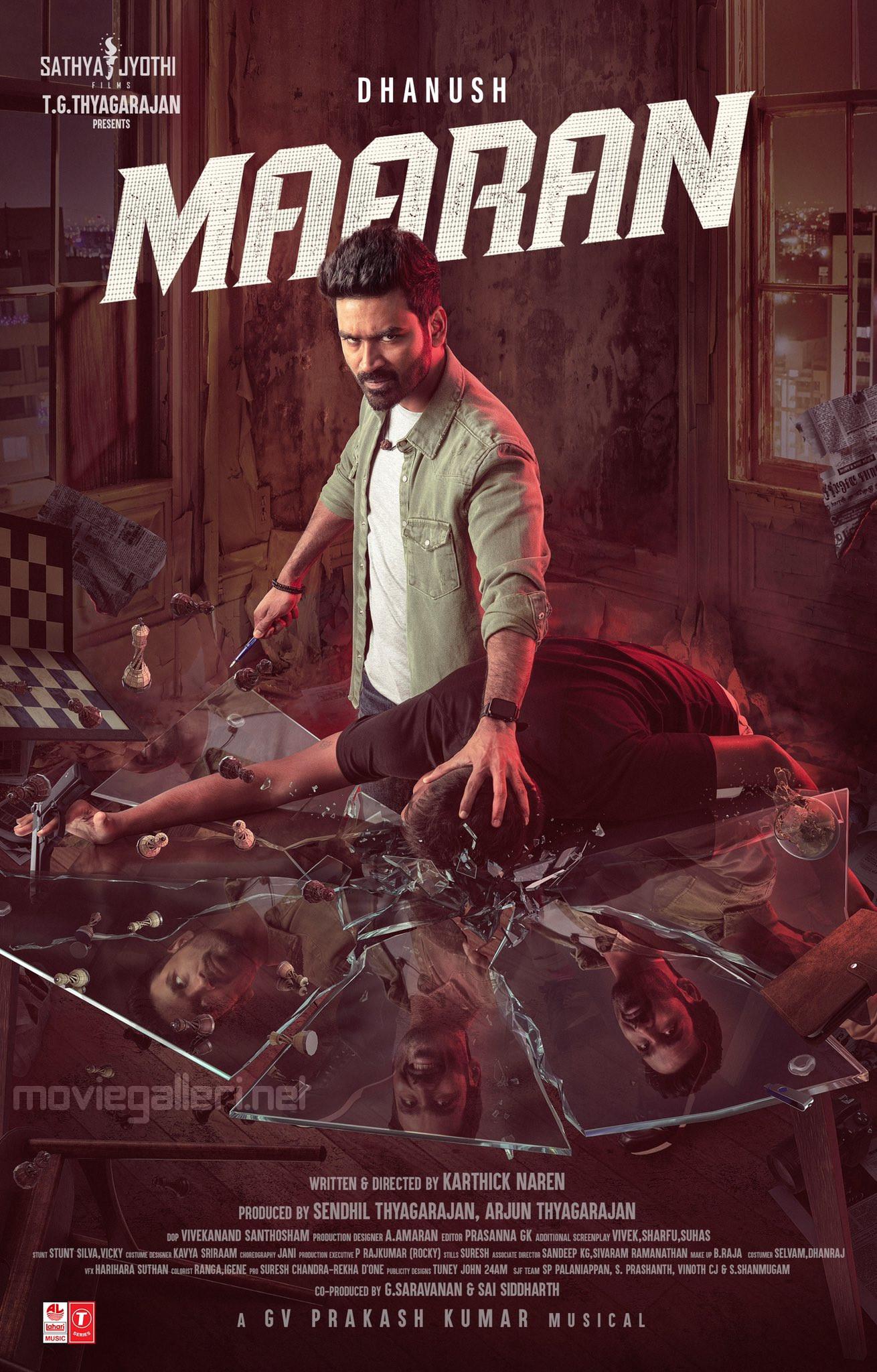 Hero Dhanush Maaran First Look Poster HD