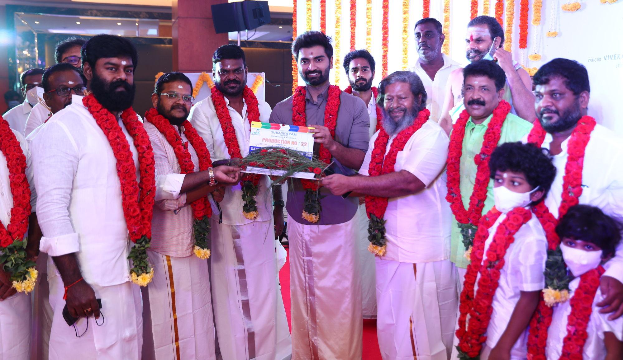 Lyca Productions Atharvaa Murali Rajkiran Sarkunam Film launched