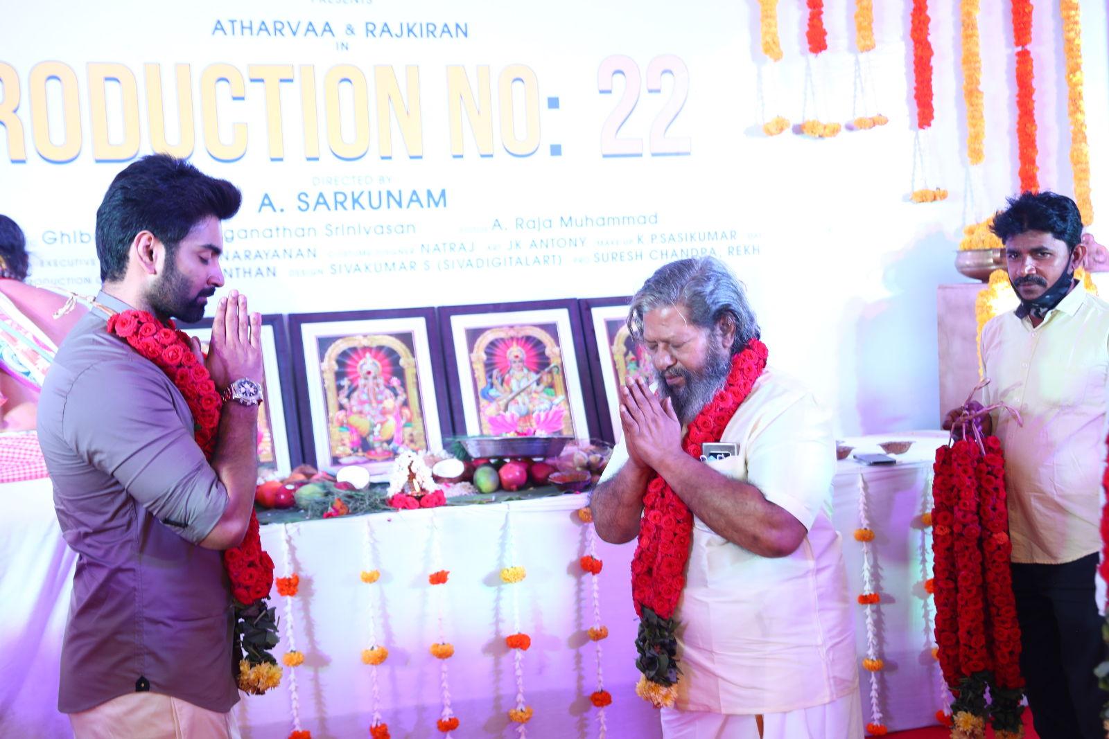 Lyca Productions No 22 Atharvaa Murali Rajkiran Sarkunam Film launched