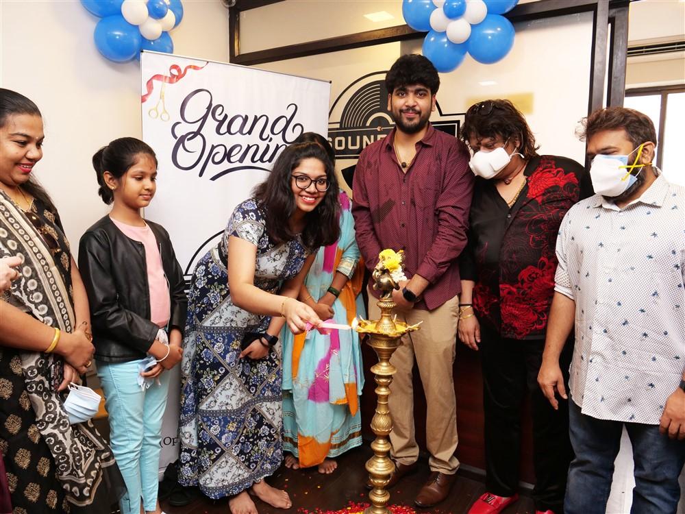 Malavika Rajhesh @ Music Director Sakthi Balaji Soundable New Recording Studio Launch Stills