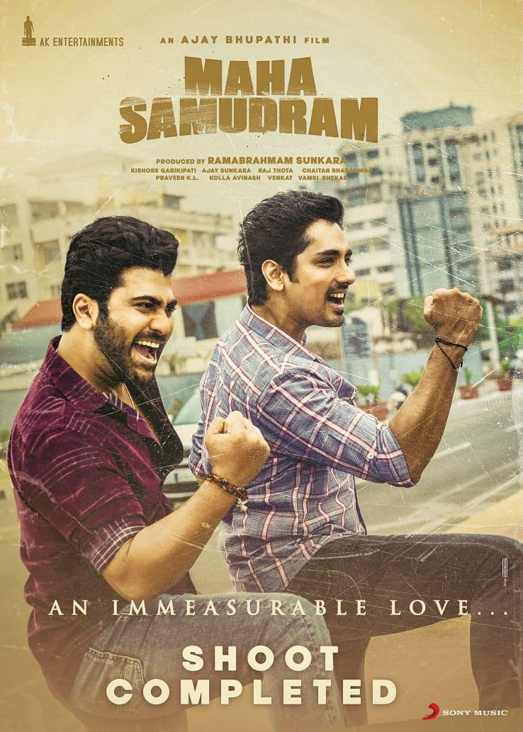Sharwanand, Siddharth in Maha Samudram Movie Shooting Completed
