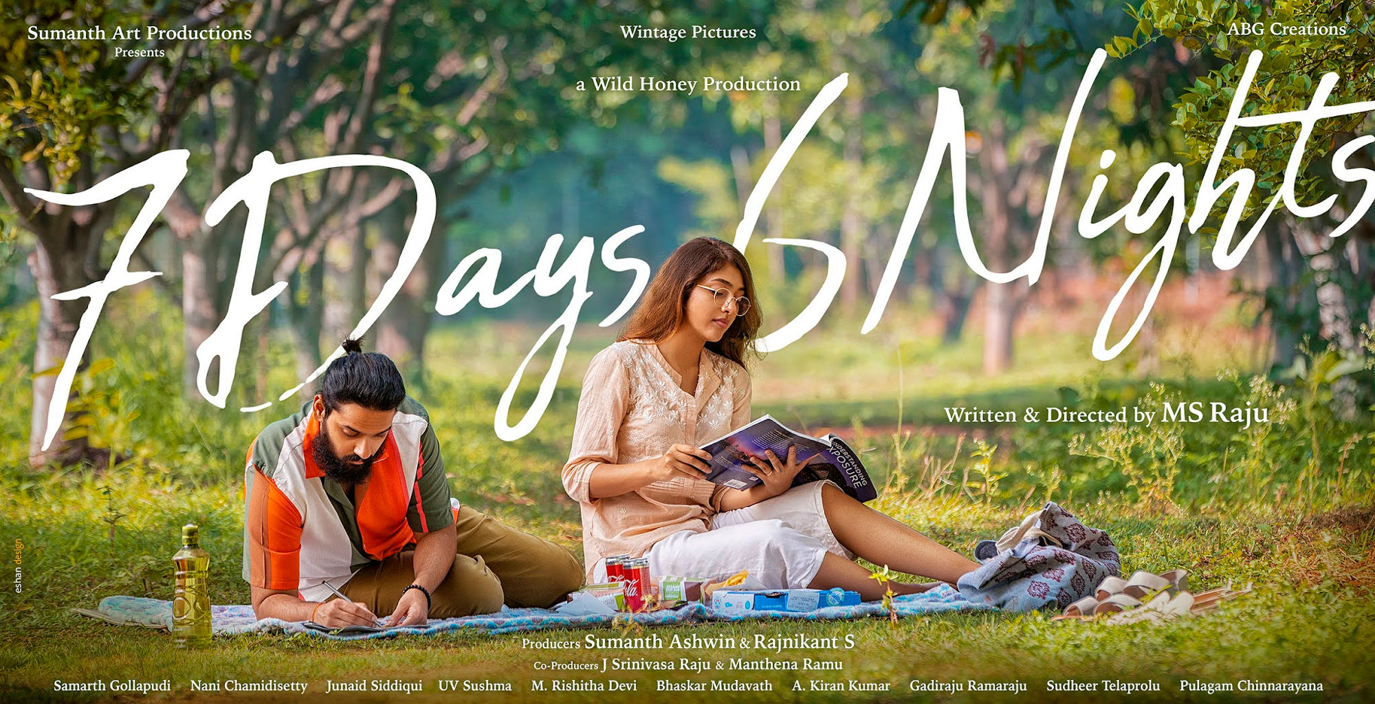 Sumanth Ashwin Mehar Chawal 7 Days 6 Nights Movie HD First Look Poster