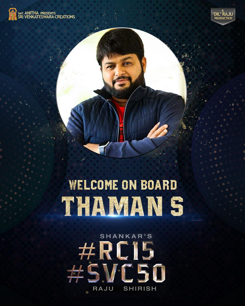 Thaman on board for Shankar - Ram Charan movie