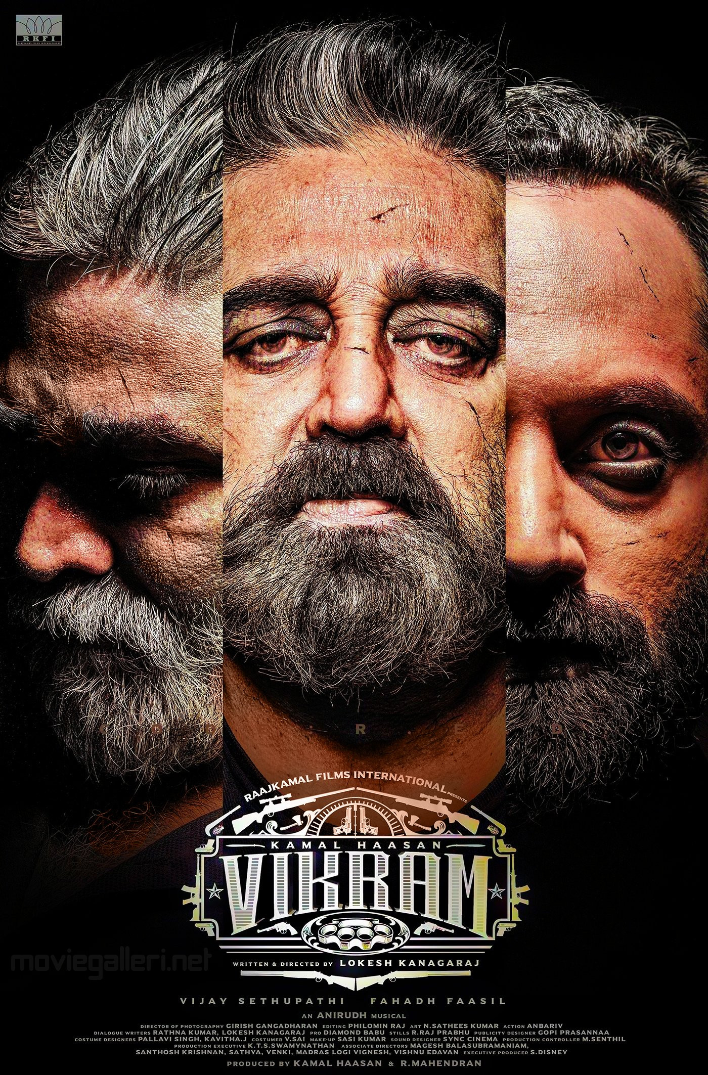 Vijay Sethupathi Kamal Fahadh Faasil Vikram Movie First Look Poster HD