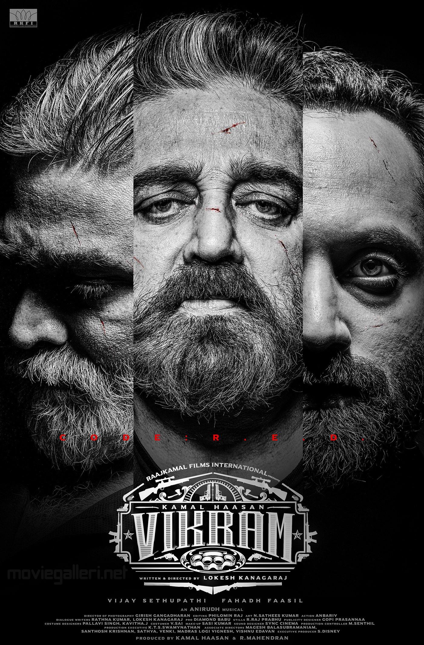 Vijay Sethupathi Kamal Haasan Fahadh Faasil Vikram Movie First Look Poster HD