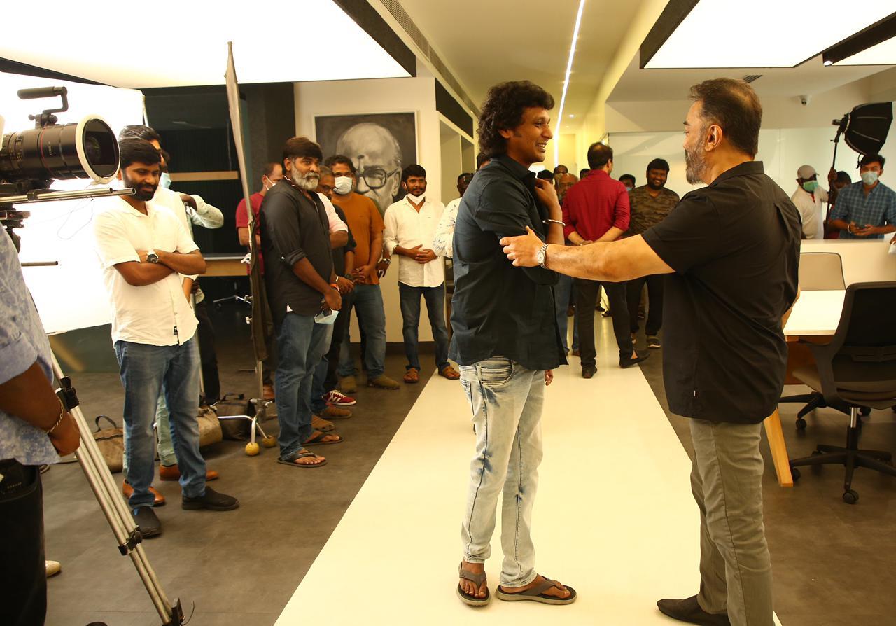 Vijay Sethupathi, Lokesh Kanagaraj, Kamal Haasan @ Vikram Movie Launch Stills