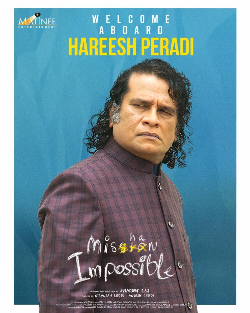 Actor Hareesh Peradi In Mishan Impossible Movie