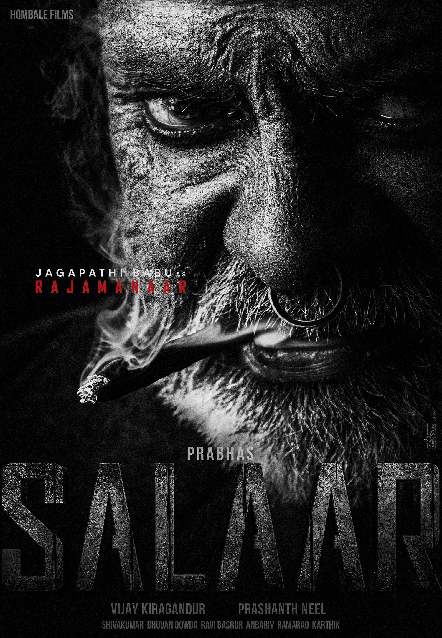 Actor Jagapathi Babu as Rajamanaar in SALAAR Movie HD Poster