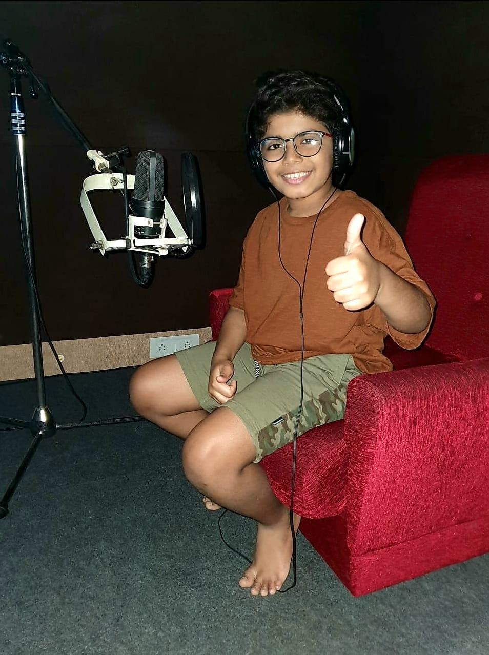 Arun Vijay son Arnav Vijay starts dubbing for his debut movie produced by Suriya 2D Entertainment