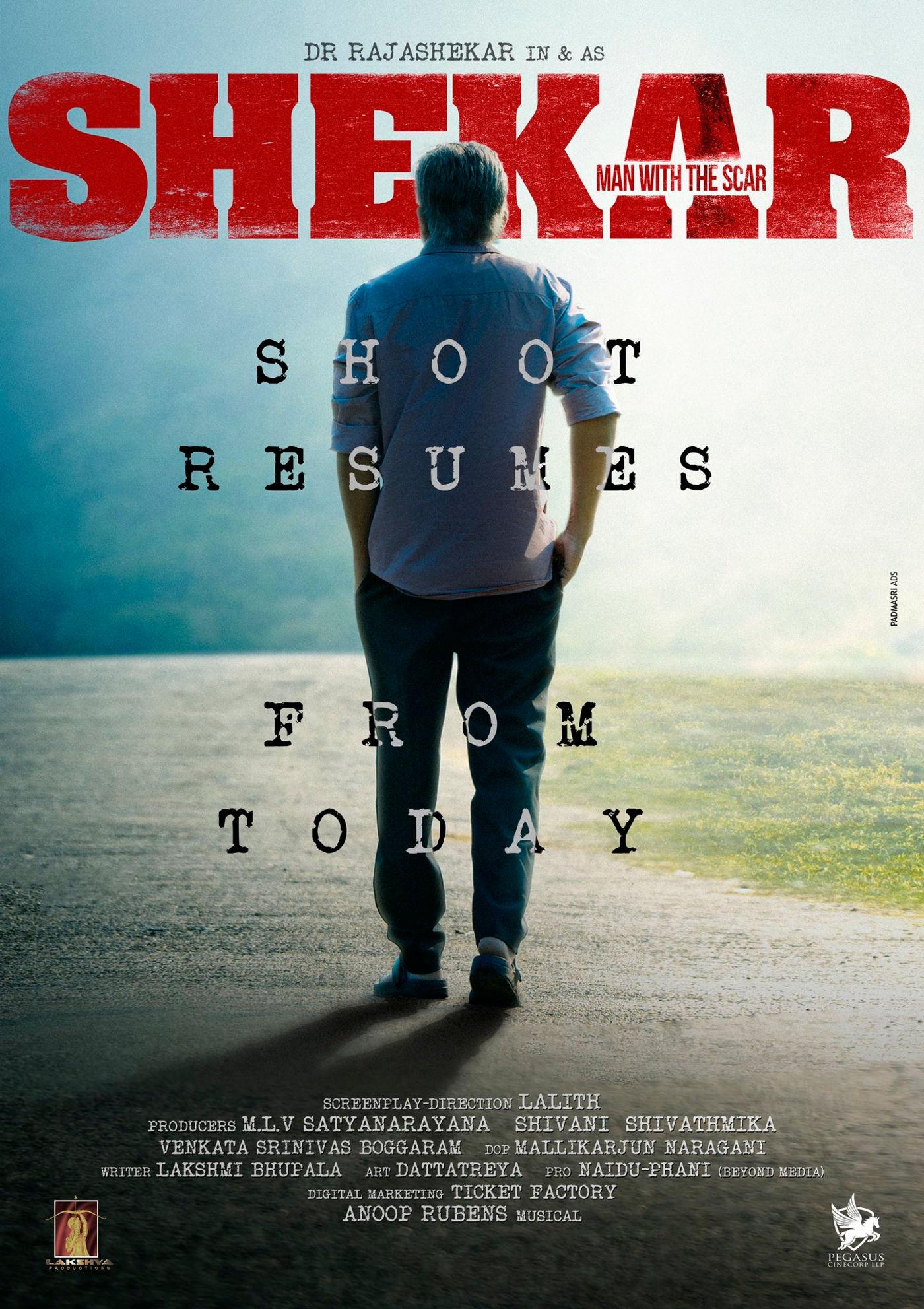 Dr Rajasekhar Shekar Movie resumes shoot
