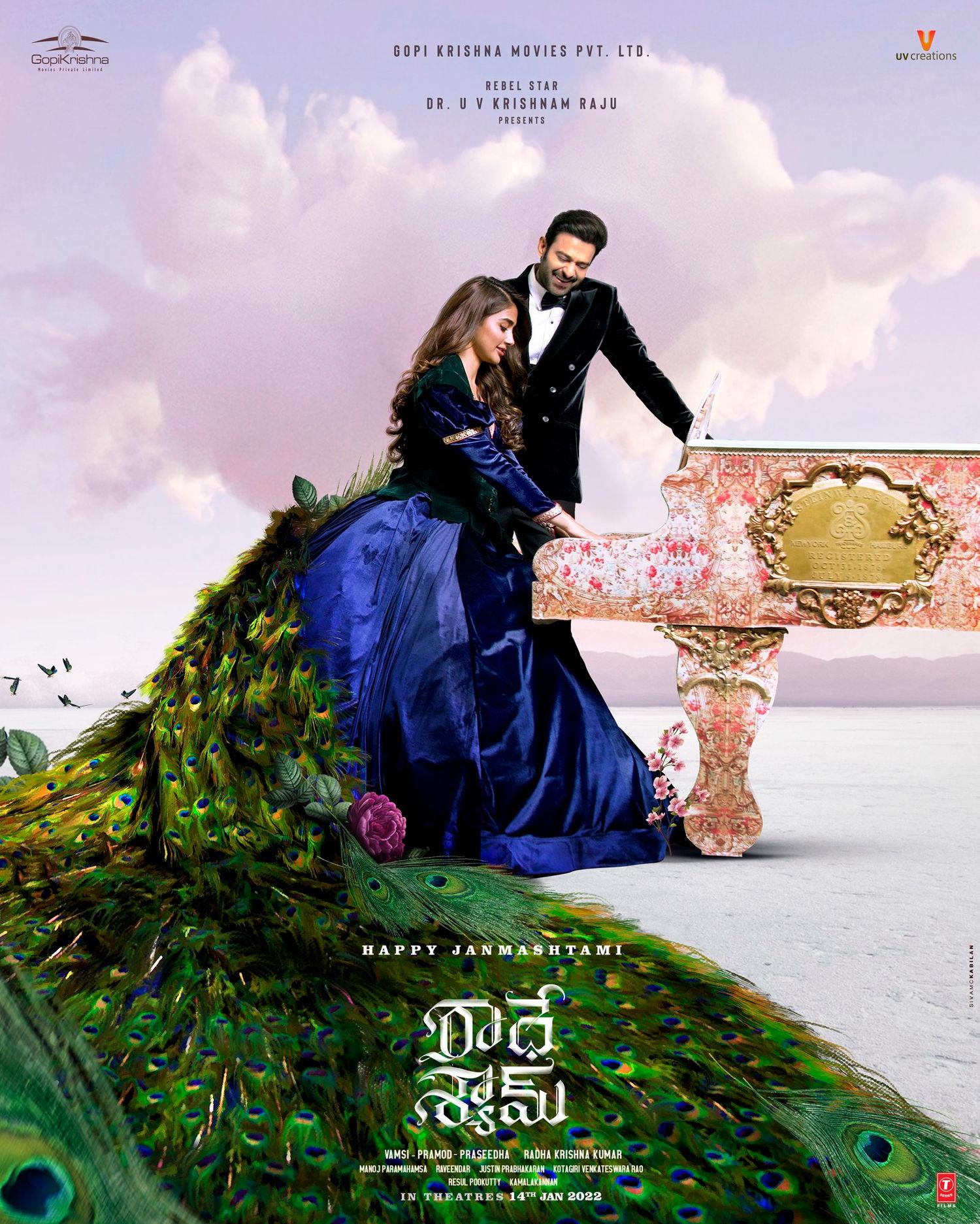 Radhe Shyam Movie Janamashtami Wishes Poster HD