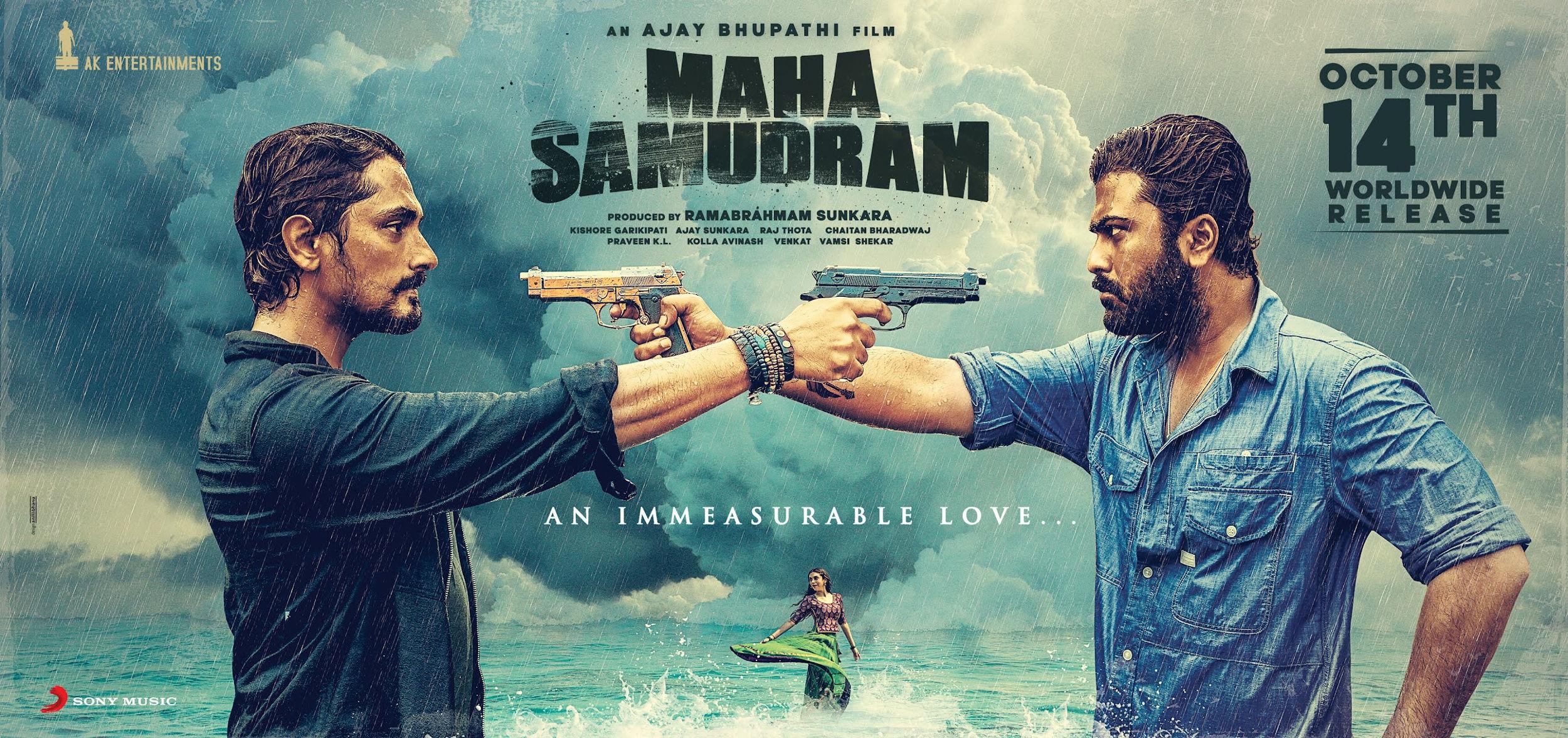Sharwanand Siddharth Maha Samudram Releasing On October 14