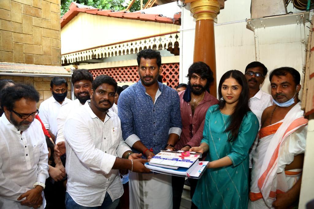 A Vinoth Kumar Vishal Sunaina Film Launched
