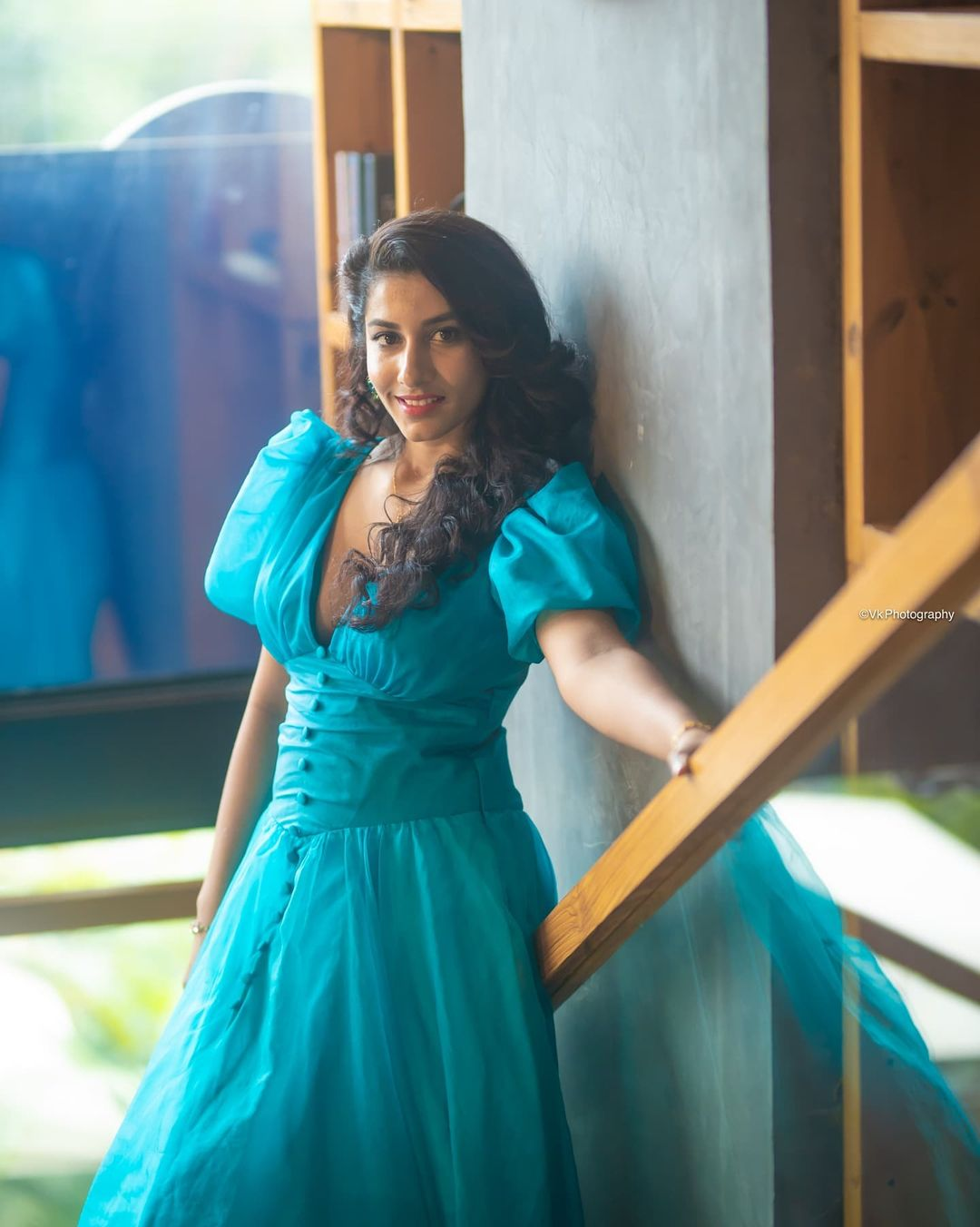 Actress Vishnupriya Bhimeneni Blue Skirt Pics @ The Baker and the Beauty Web Series Trailer Launch