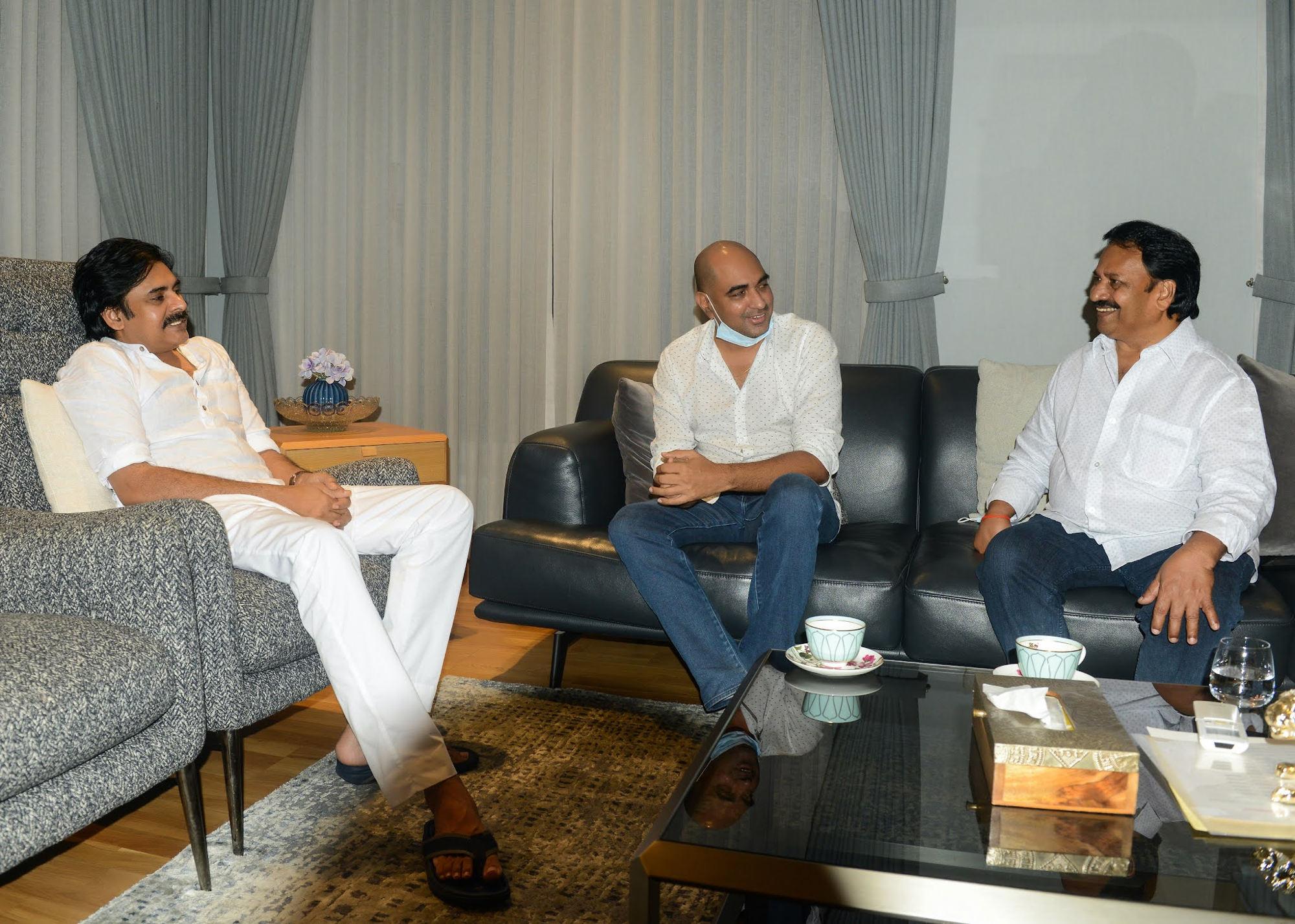 Director Krish, Producer AM Rathnam meet Pawan Kalyan, Hari Hara Veera Mallu shoot to resume soon