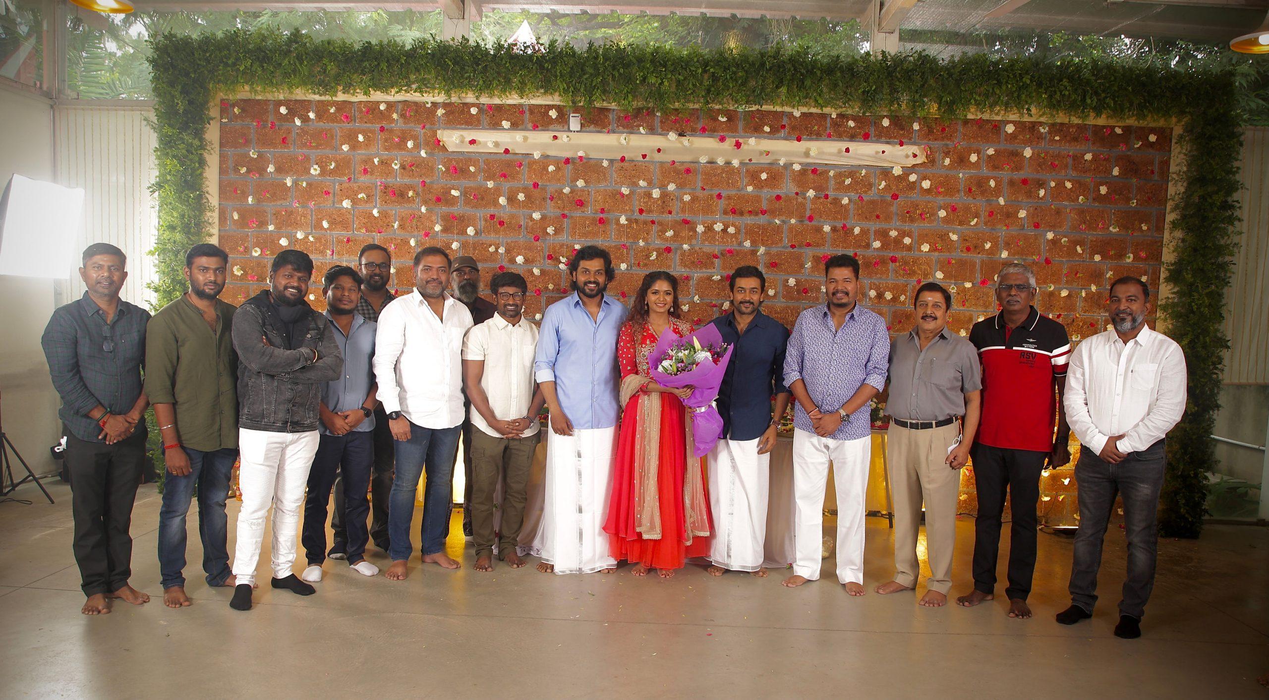 Director Muthaiah Hero Karthi VIRUMAN Movie Pooja HD Photos