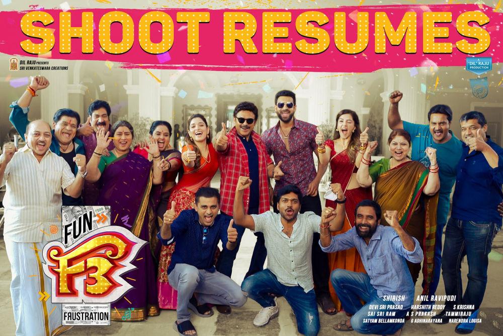 F3 Movie Shooting Resumes in Hyderabad