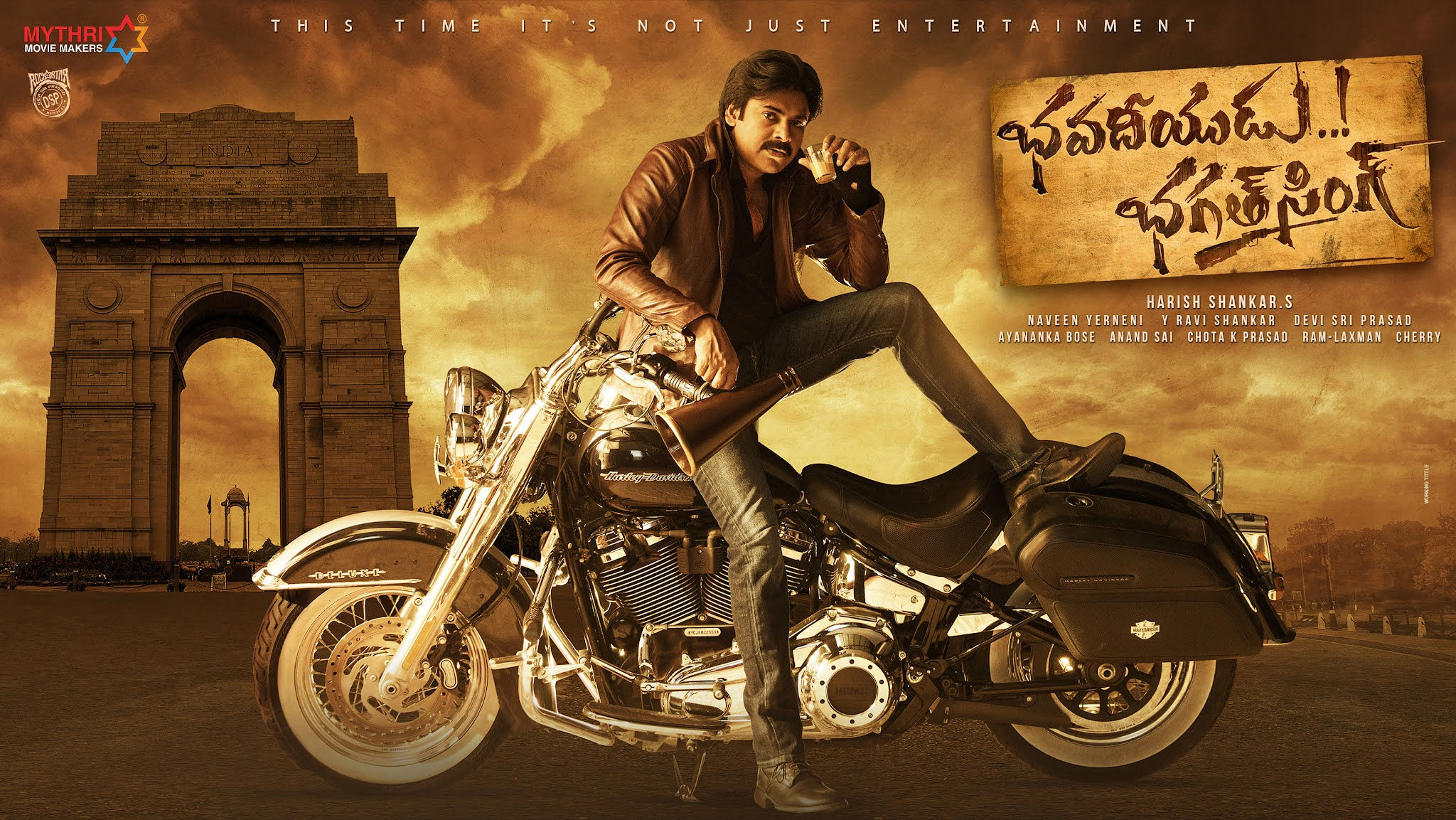 Pawan Kalyan Bhavadeeyudu Bhagat Singh Movie First Look HD Poster