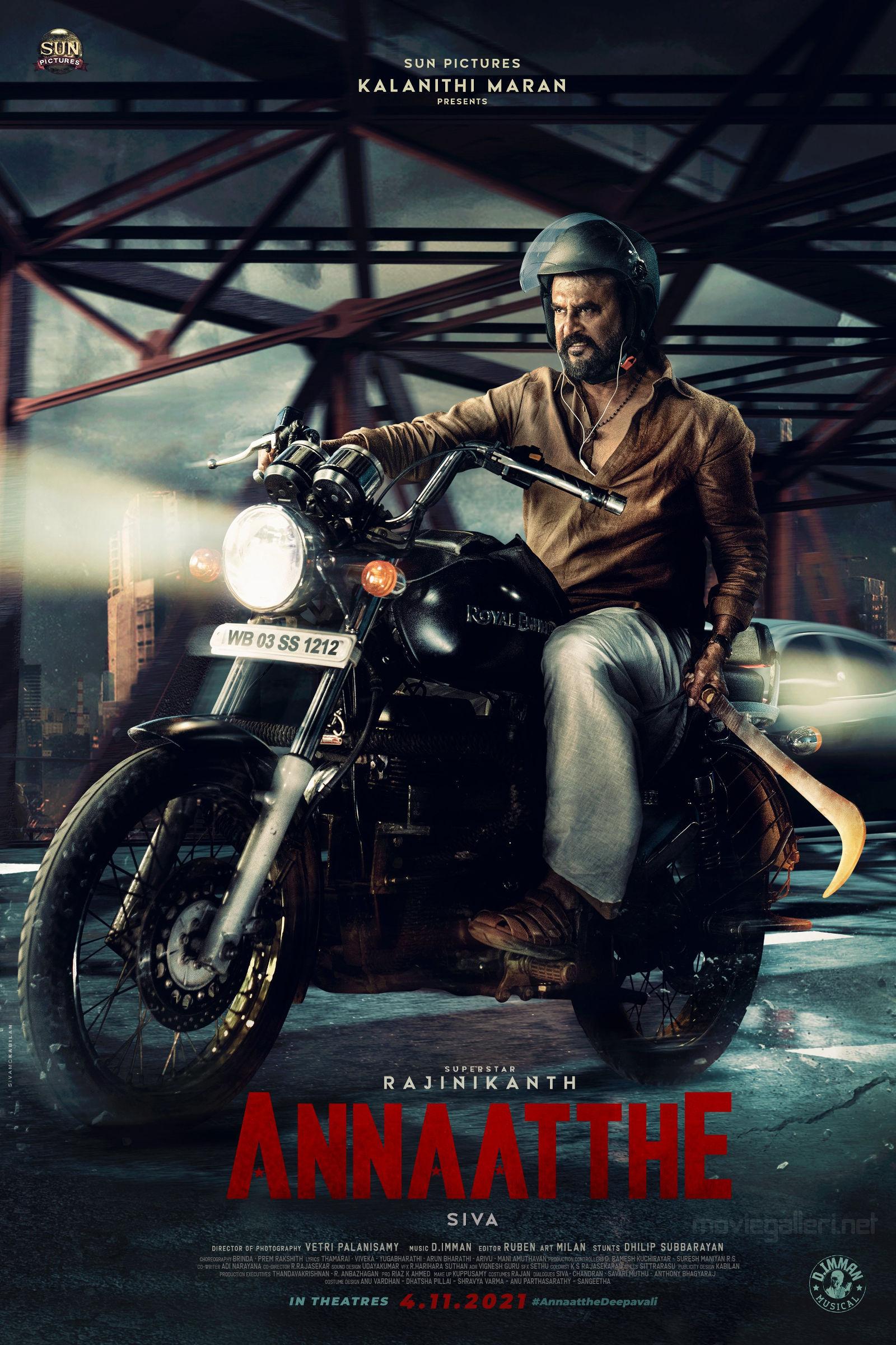 Rajinikanth Annaatthe Movie Second Look HD Poster