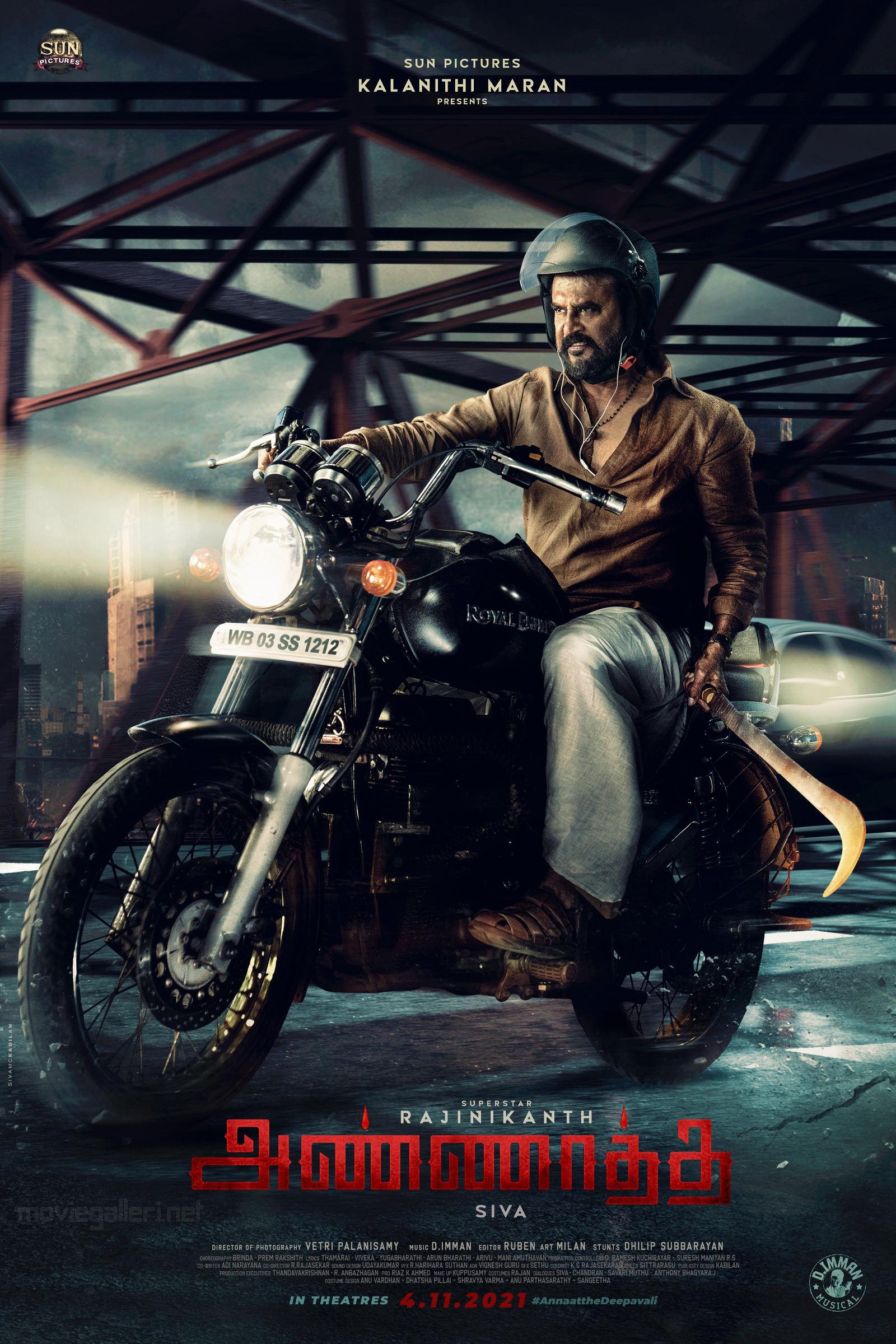 Rajinikanth Annaatthe Second Look Poster HD