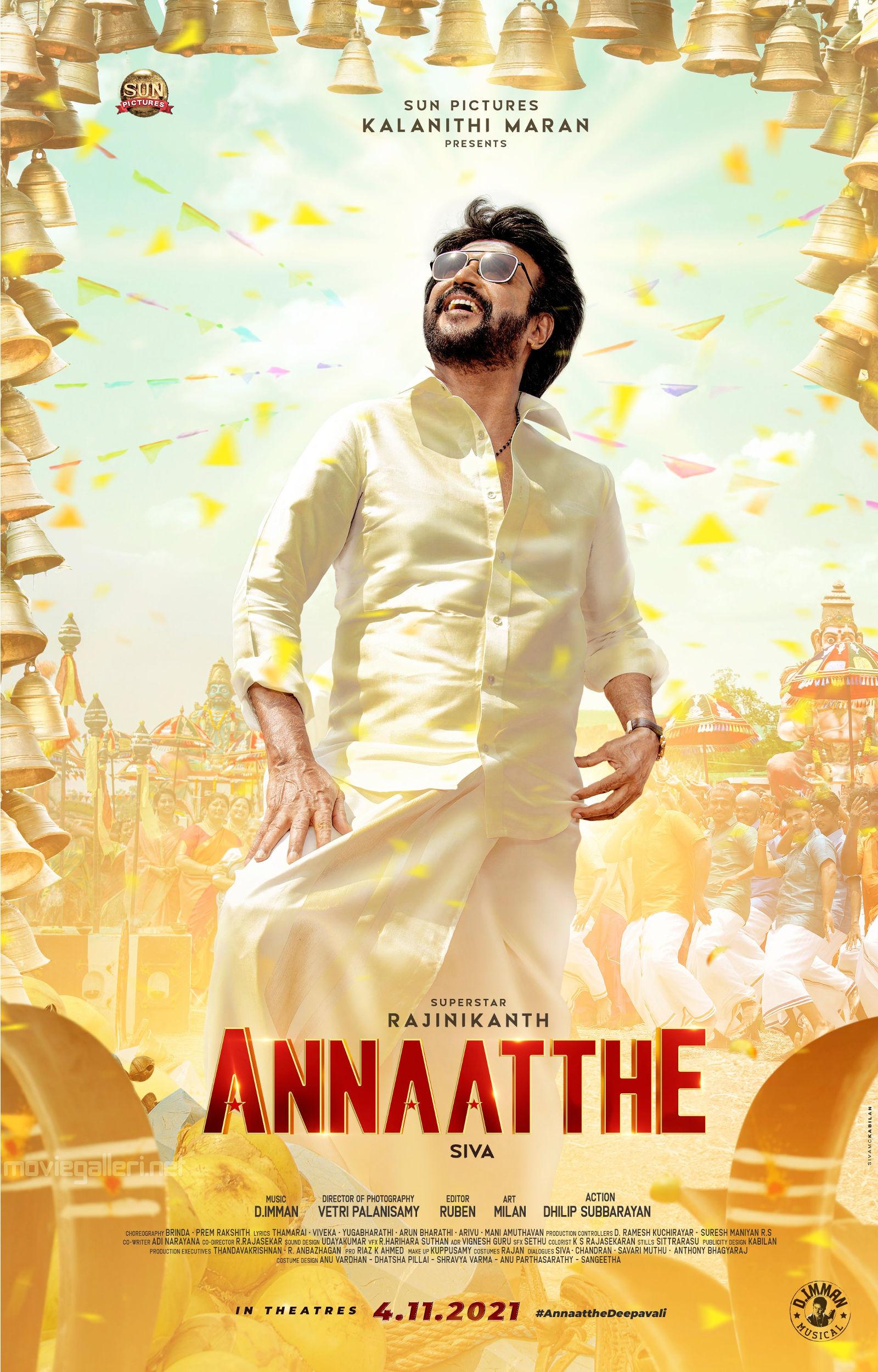 Rajinikanth Annathe First Look Poster HD