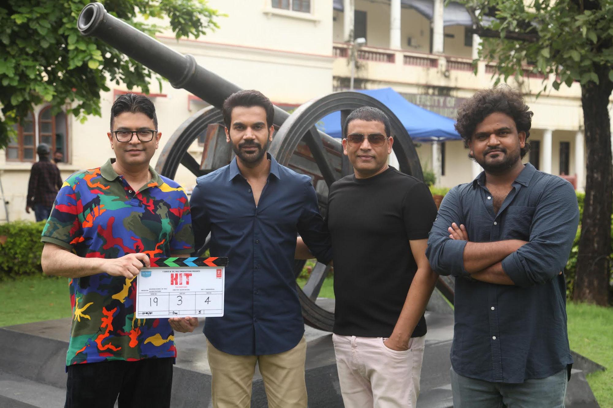 Rajkummar Rao, Dil Raju, Bhushan Kumar, Kuldeep Rathore, Dr. Sailesh Kolanu @ HIT The First Case Movie Launch