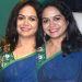 Telugu Singer Sunitha Blue Saree Pictures
