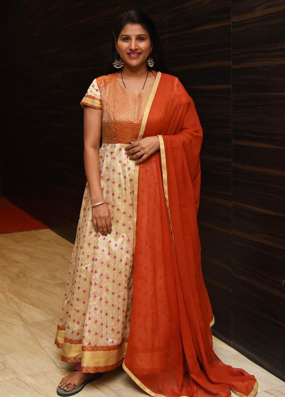 Telugu Actress Mangli Stills @ Gully Rowdy Pre Release