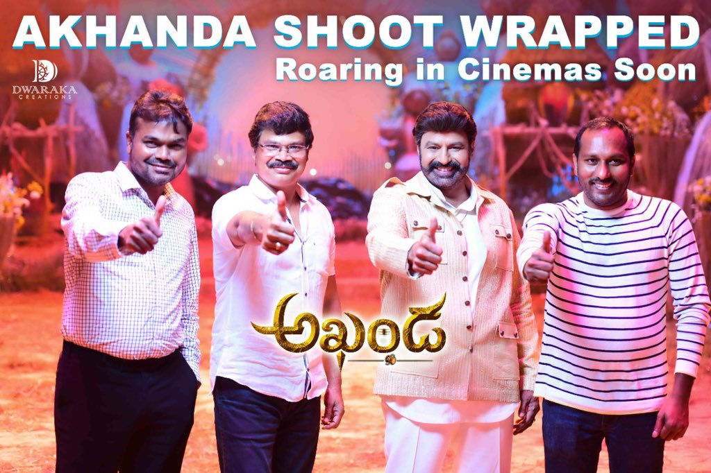 Nandamuri Balakrishna Akhanda Movie Shooting Wrapped Up